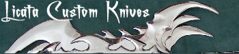 Custom fantasy knives, swords, daggers pins, armor, jackets, rings, and more by Steven Licata weaponsmith (973) 588-4909